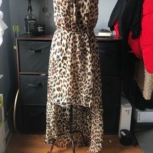 High Low cheetah print dress